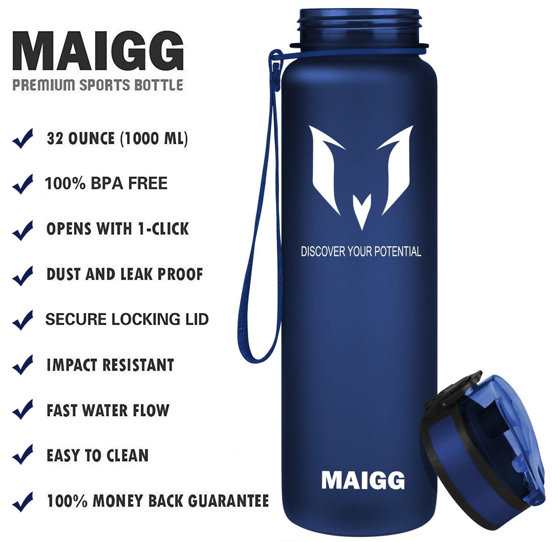 6dc71e13aa MAIGG Best Sports Water Bottle - 17oz & 32oz - Eco Friendly & BPA-Free