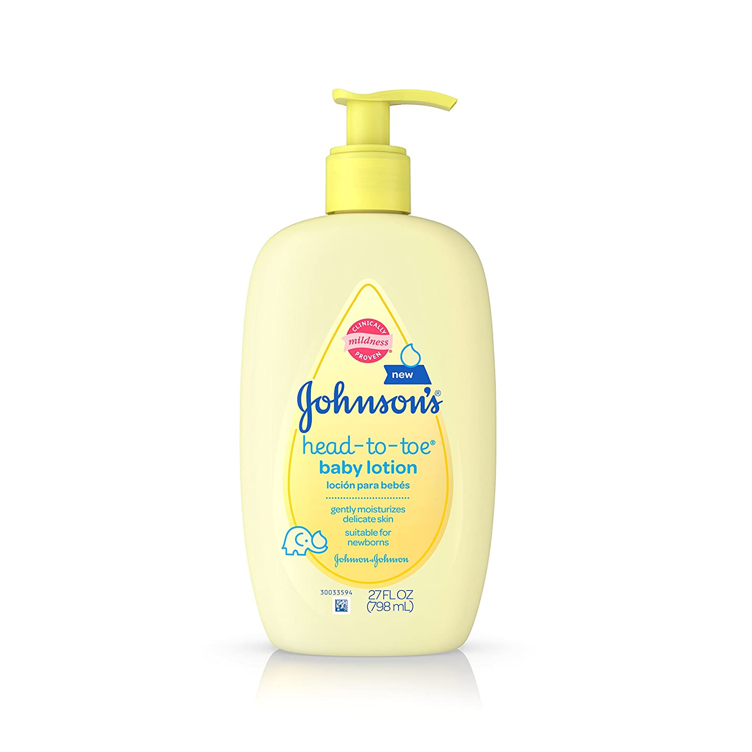 Johnson's Head-to-Toe Baby Lotion, 27 Fl. Oz (Pack of 3)
