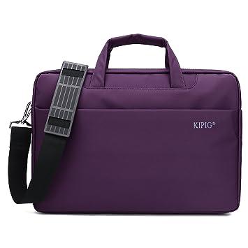KIPIG Bolsa para Portátil 15.6 Pulgadas, Maletín para Ordenador Portátil con Mangos Fáciles de Agarrar
