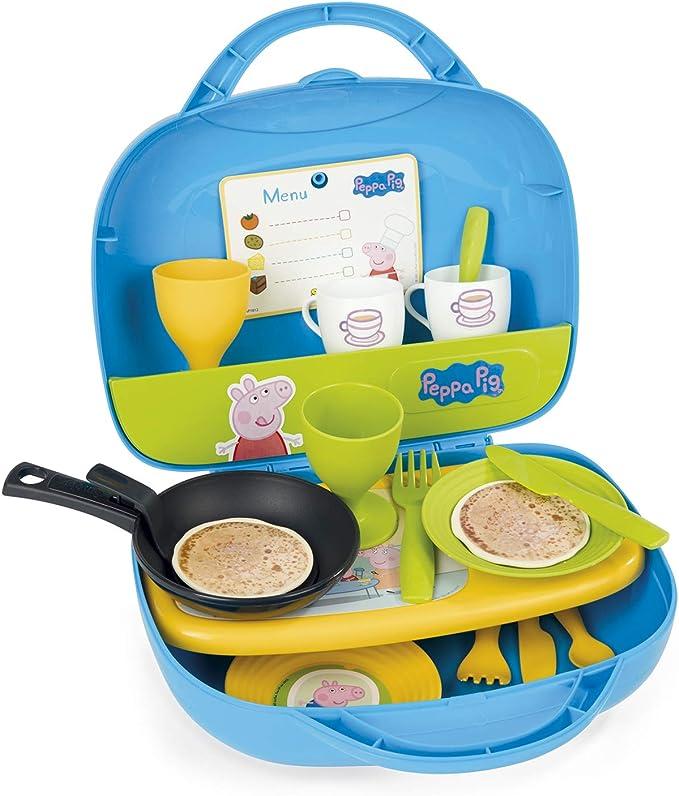 Maletín mini cocina de Peppa Pig con 16 accesorios (Smoby 310605 ...
