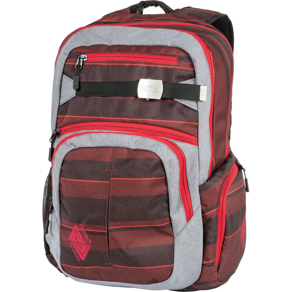 Red Stripes Nitro Backpack  Hero  Rucksack  20.47 x14.96 x9.06   8.24gal 65.12pt  9.06 x14.96 ,1251.12 Oz, Plaid Redbluee
