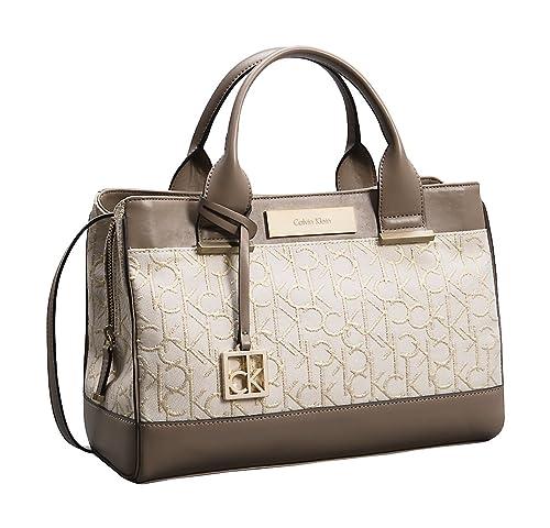 Calvin Klein - Bolso estilo cartera para mujer Beige beige: Amazon.es: Zapatos y complementos