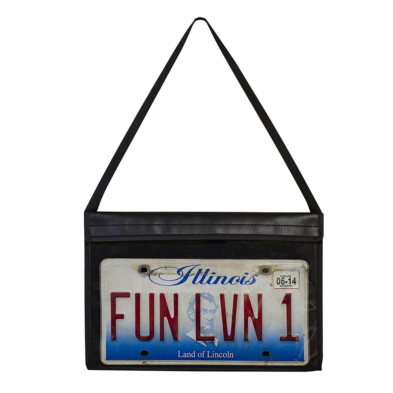 C-Line License Plate Holder with Hanging Strap, Stitched (41902) (4) by C-Line