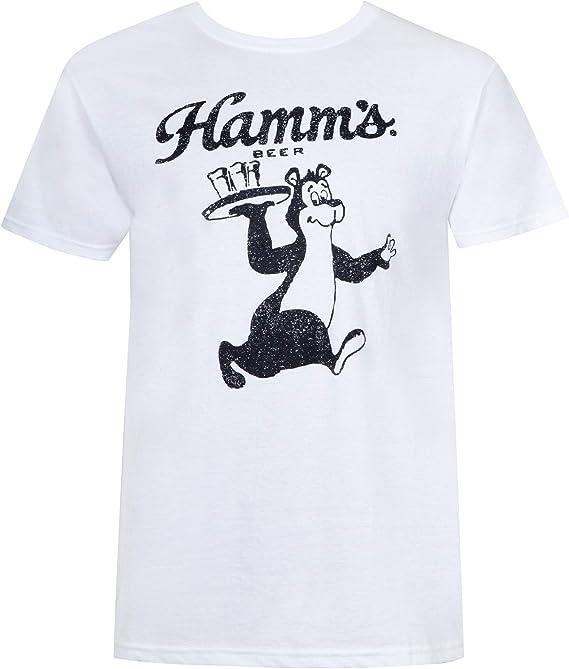 Hamms Oso Camarero Camiseta blanca Medio: Amazon.es: Ropa y accesorios