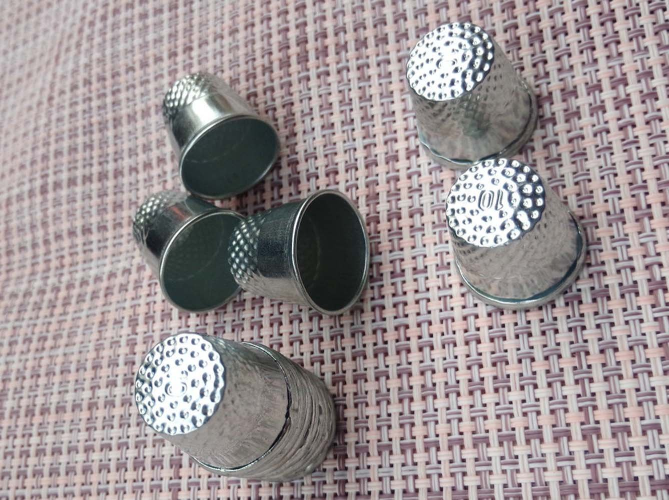 Approx Size Sewing Thimble :19mm x 18mm LGEGE 30PCs silver toned Vintage DIY Crafts Metal Sewing Thimbles