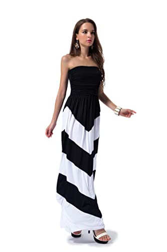 Charm Your Prince Women's Sleeveless Summer Chevron Empire ZigZag Floral Maxi Dress 4.3 out of 5 stars    164 customer reviews  | 17 answered questions Price: $29.99 - $44.99 & Free Return on some sizes and colors