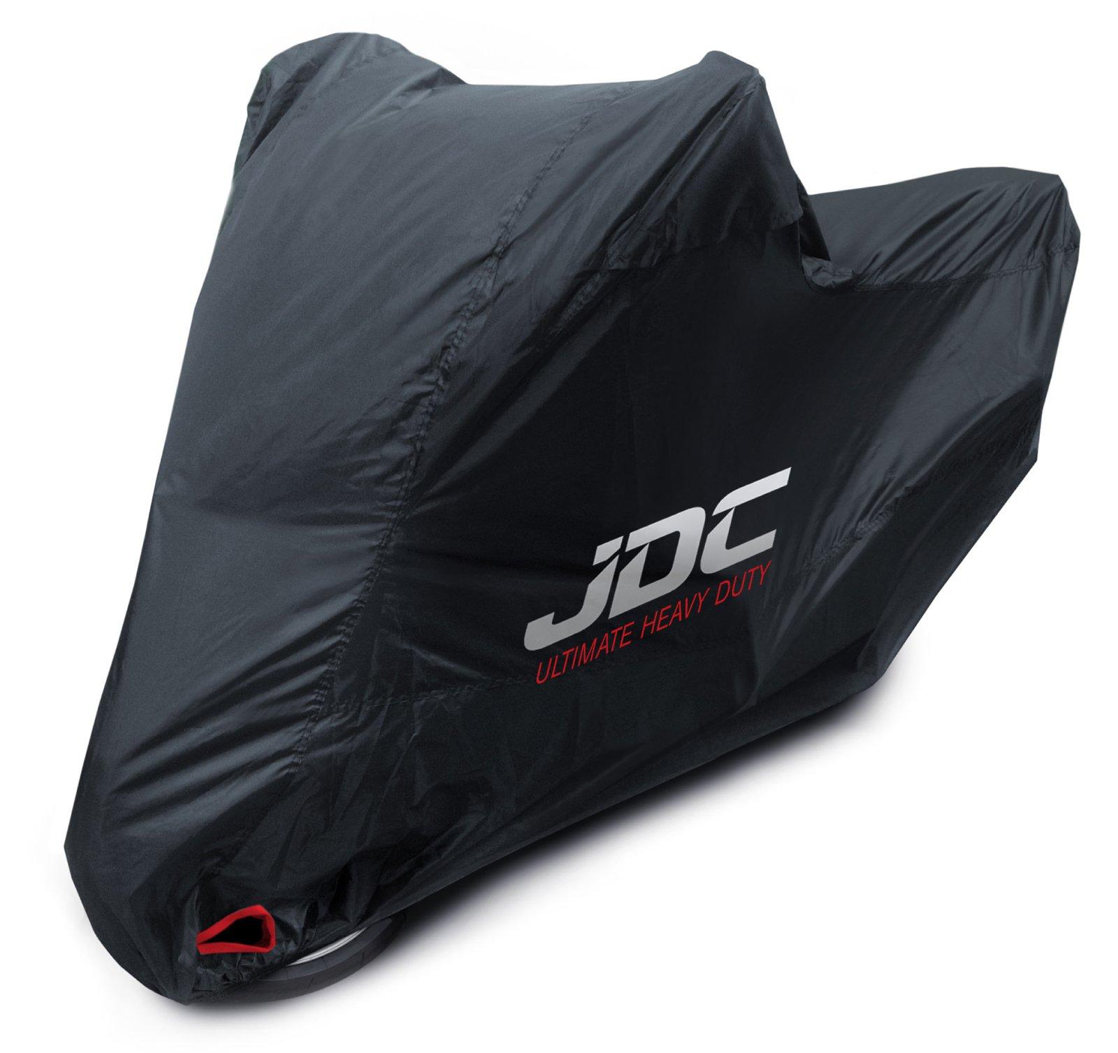JDC Housse moto 100 % étanche – ULTIMATE HEAVY DUTY (Extra robuste, doublure souple, panneaux résistants à la chaleur, coutures étanchéifiées) - L Top case product image
