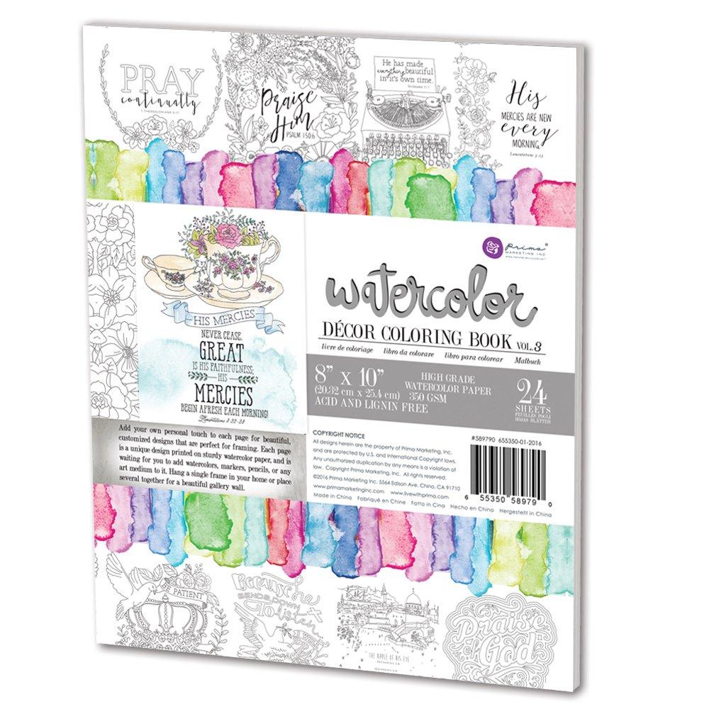 Amazon.com: Prima Marketing Coloring Book Vol. 3-Faith Based