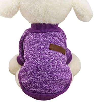 0566b6f7988a Classic Dog Clothes Warm Puppy Outfit Pet Jacket Coat Winter Dog Clothes  Soft Sweater Clothing Small