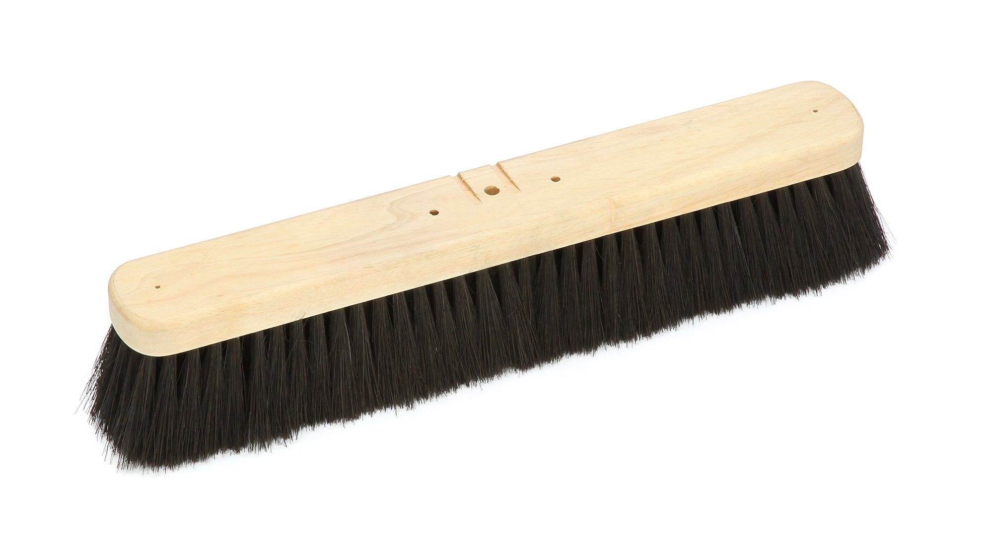 Harper Brush 143812 Broom Head, Tampico Fiber, All Purpose, Semi Smooth Surface, Hard Wood, 18'' (Pack of 6)