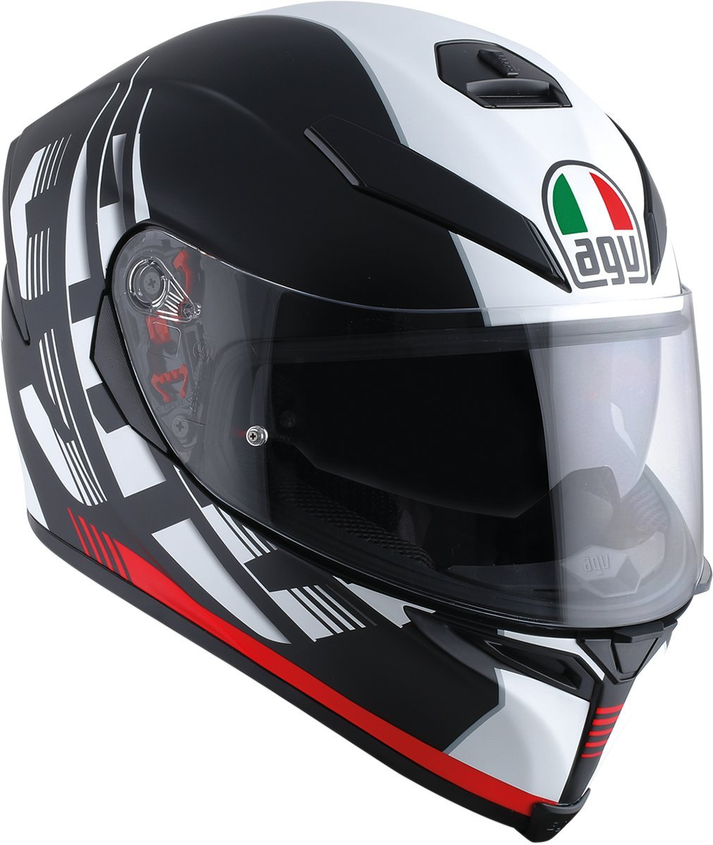 AGV K-5 Unisex-Adult Full-Face-Helmet-Style Storm Helmet Black//Red, Medium-Small