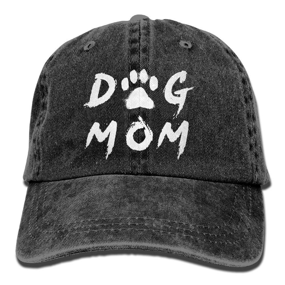 985a4be3769 SARA NELL Unisex Adult Dog Mom Vintage Adjustable Baseball Cap Cotton Denim  Cowboy Dad Hat (Black) at Amazon Men s Clothing store