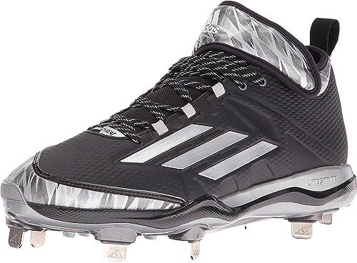 cheap for discount f2ead 441ec adidas Men s Dual Threat Baseball Black Silver White Sneaker 10 D ...