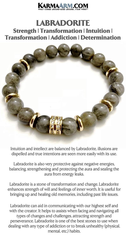 Yoga Chakra Meditation Stretch Jewelry Labradorite Pave Reiki Boho Beaded Bracelet KarmaArm Intuition
