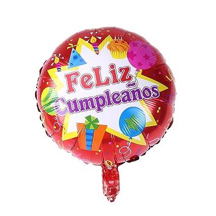 Amazon.com: BESTOYARD Spanish Happy Birthday Foil Balloon ...