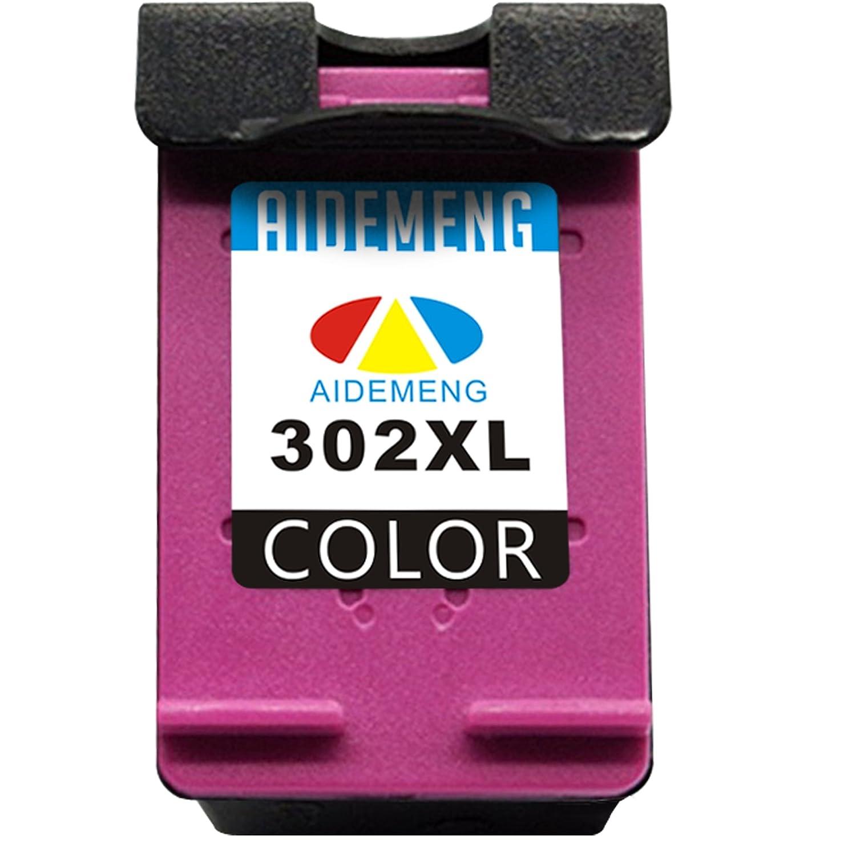 AideMeng 2 Pack Cartuchos de tinta Reemplazo para HP 302XL 302 XL (1 tricolor)Compatible para HP OfficeJet 3830 3831 3833 ENVY 4520 4524 5428 ...