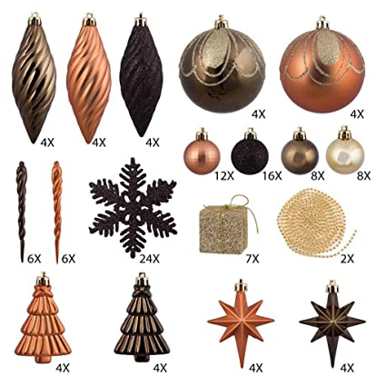 125-Piece Club Pack of Shatterproof Brown Copper Gold Tone Christmas  Ornaments - Amazon.com: 125-Piece Club Pack Of Shatterproof Brown Copper Gold