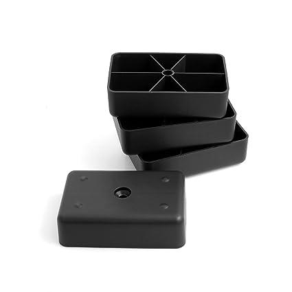 Design61 Juego de 4 Sofá patas de plástico para muebles muebles Posavasos sofá sillón para atornillar
