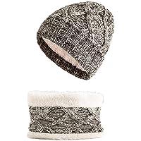 CheChury Niños Gorro y Bufanda Conjuntos Gorros de Punto Ninas Sombreros de Invierno Slouchy Caliente Bufanda Tubular…