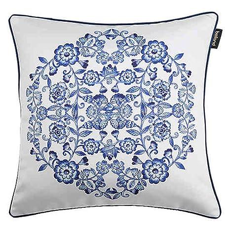 LIXUE Cojines Azul Grupo Estampado de Flores Modelo ...
