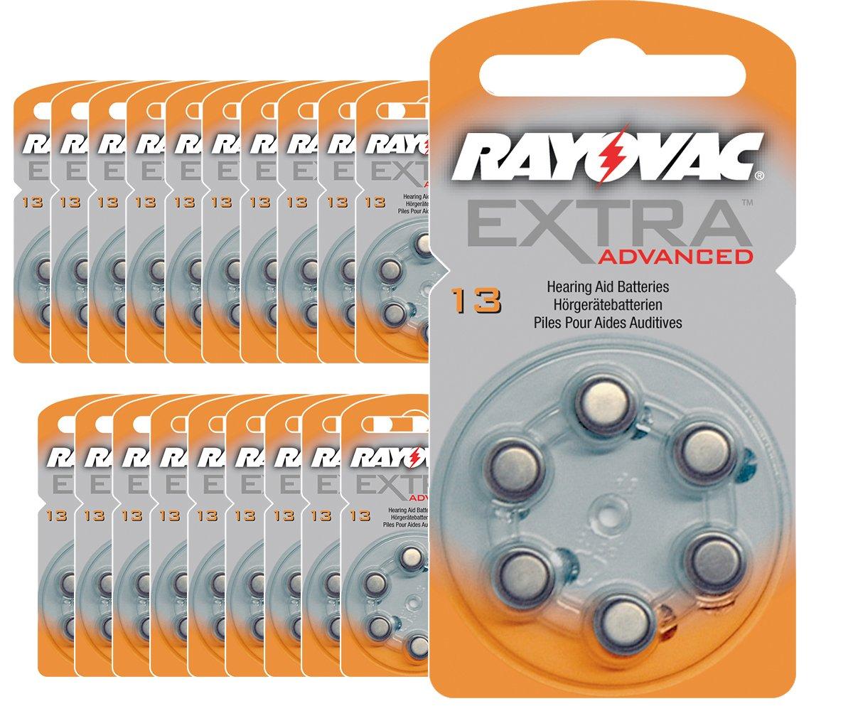 120 x Hörgerätebatterien Hörgeräte-Batterien  Rayovac Extra 13 AE PR48