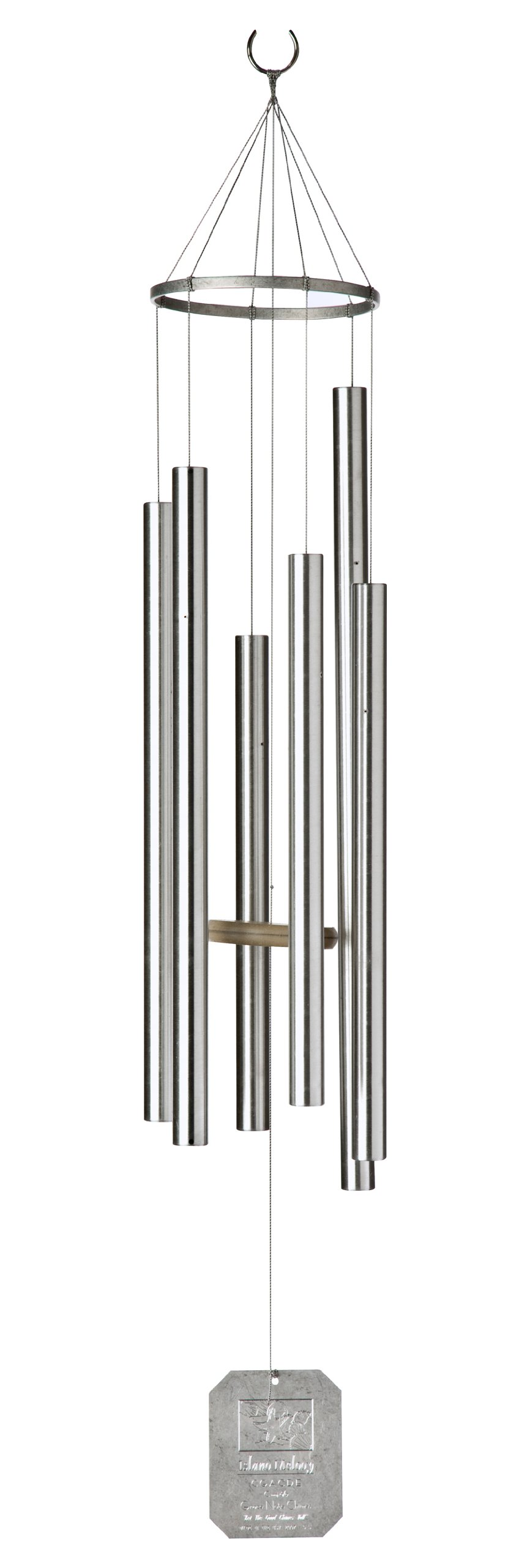 Grace Note Chimes 3S 36-Inch Himalayan Echo Wind Chimes, Small, Silver