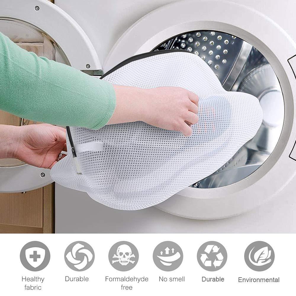 Wäschebeutel für Schuhe, omitium Wäschenetz 2 Stück Multi Schutz Wäschenetz Schuhe Wäschesack für die Waschmaschine Mit Haltbarem Reißverschluss ideal