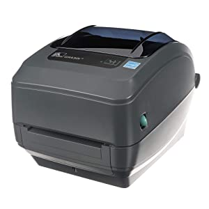 Zebra GX430t Thermal Transfer Desktop Printer Print Width of 4 in USB Serial Parallel and Ethernet Connectivity GX43-102410-000