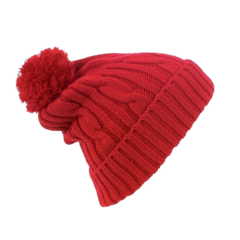 64205c7563a SOLS Barney Unisex Winter Pom Pom Beanie Hat (One size) (Black) at Amazon  Men s Clothing store