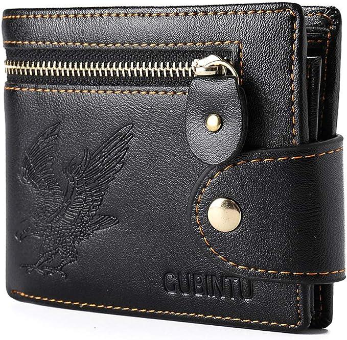 Men/'s Genuine Leather Credit Card Holder Wallet Bifold ID Cash Coin Purse Clutch