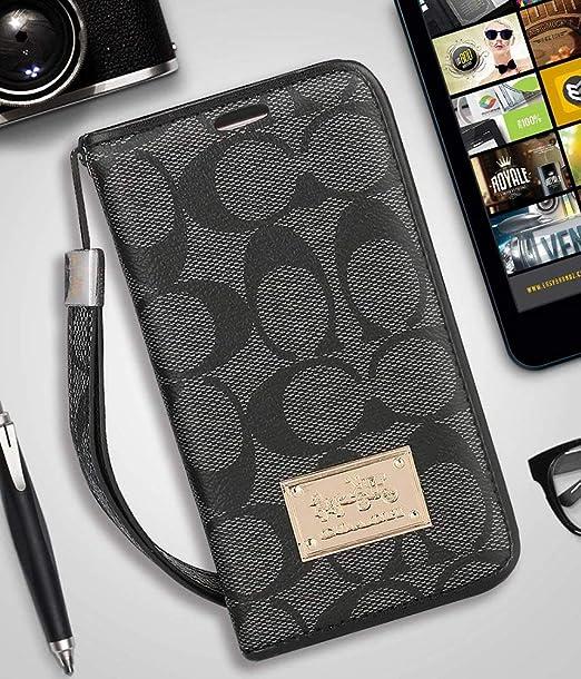 f781c7772d0da iPhone X/Xs Wallet Case - Luxury Elegant PU Leather Monogram Classic Style  Cover Compatible with iPhone X Or iPhone Xs(iPhone X/Xs,Black)
