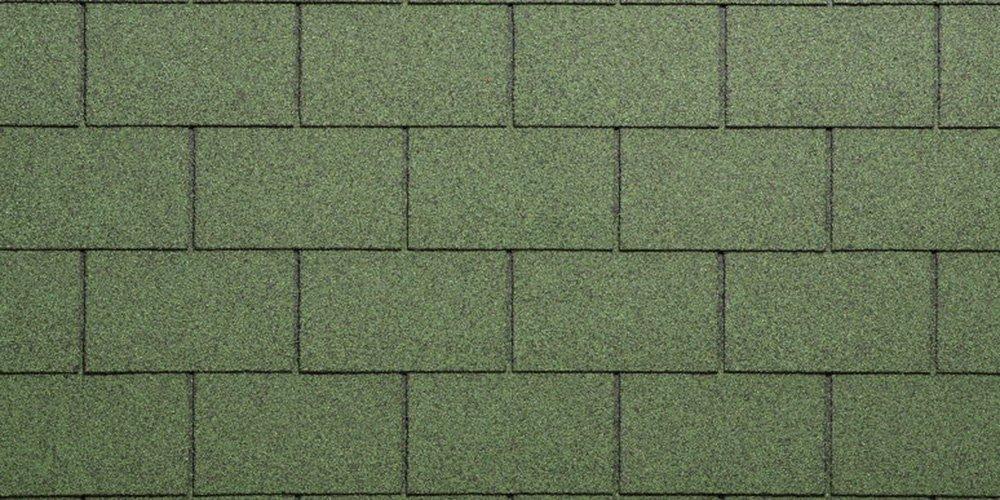 Teja Bituminosa granigliata para tejado, verde Tegola Canadese Spa 2103080092078