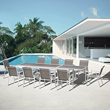 Salon de jardin aluminium Ibiza: Amazon.fr: Jardin