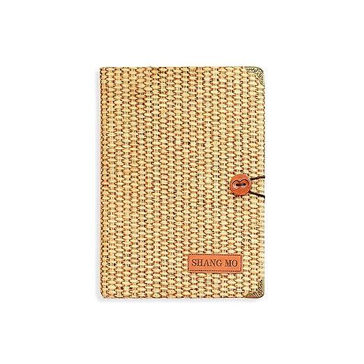 Zhi Jin Creative Vintage Cuaderno Diario Diario de paja ...