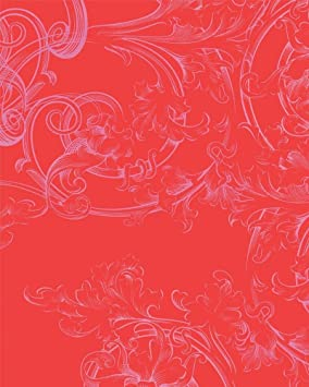 Gloockler 54119 Enfants De Papier Peint Avec Motif Floral Rouge Rose