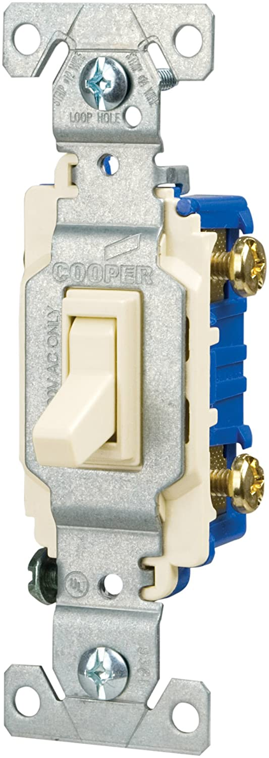 Eaton C1301-7LTV-L 15-Amp, 120-Volt Side and Push Wire Single-Pole Toggle  Lighted Switch, Ivory - Wall Light Switches - Amazon.com