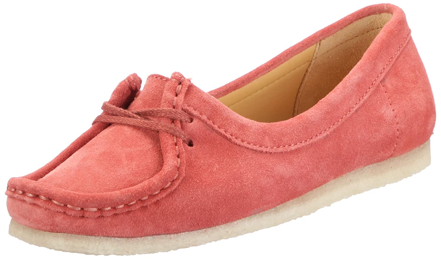 Clarks Wallabee Chic 20350118, Damen Mokassins, Rot (Blush