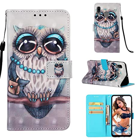 Amazon.com: Samsung A20 Card Holder Case, Galaxy A20 Flip ...