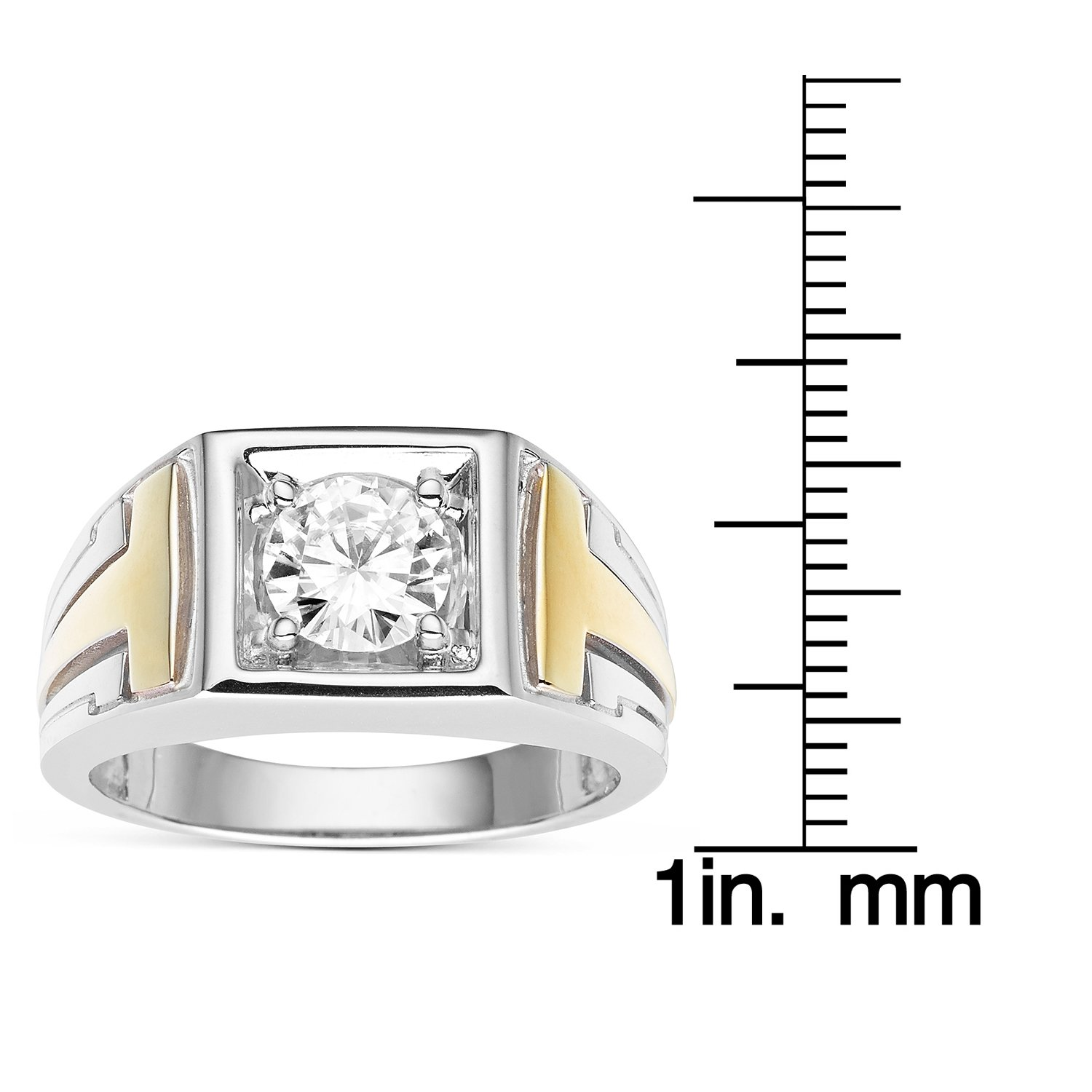 Forever Classic Men�s Round 7.0mm Moissanite Wedding Band-size 11, 1.20ct DEW By Charles & Colvard by Charles & Colvard (Image #4)