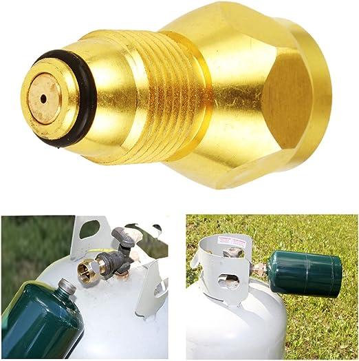Youngfly propano adaptador de recarga gas LP Depósito de cilindro acoplador calefactor Camping Caza