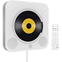 Portable CD Player with Bluetooth, Wall Mountable Built-in HiFi Speakers, Home Audio Boombox with Remote Control FM…