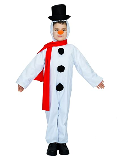 DSplay Kids Snowboy Costume (7-9, White)