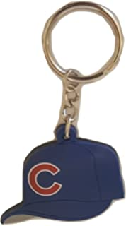 MLB Chicago Cubs Soft Rubber Team Cap Key Ring