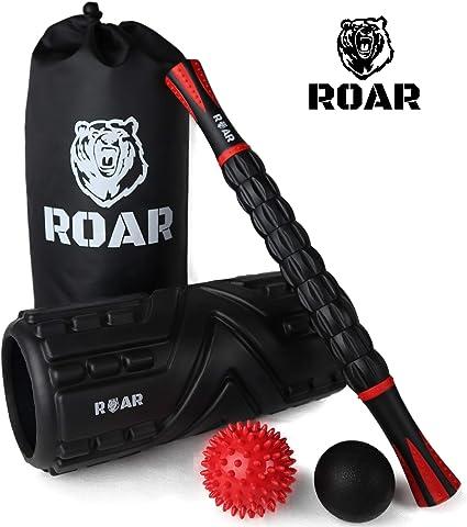 Roar® Foam Roller Masaje Kit, Rodillo Masaje Muscular Pack, Foam ...