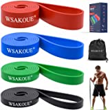WSAKOUE Pull Up Assistance Bands, Resistance Bands Set for Men & Women, Exercise Bands Workout Bands for Working Out, Body St