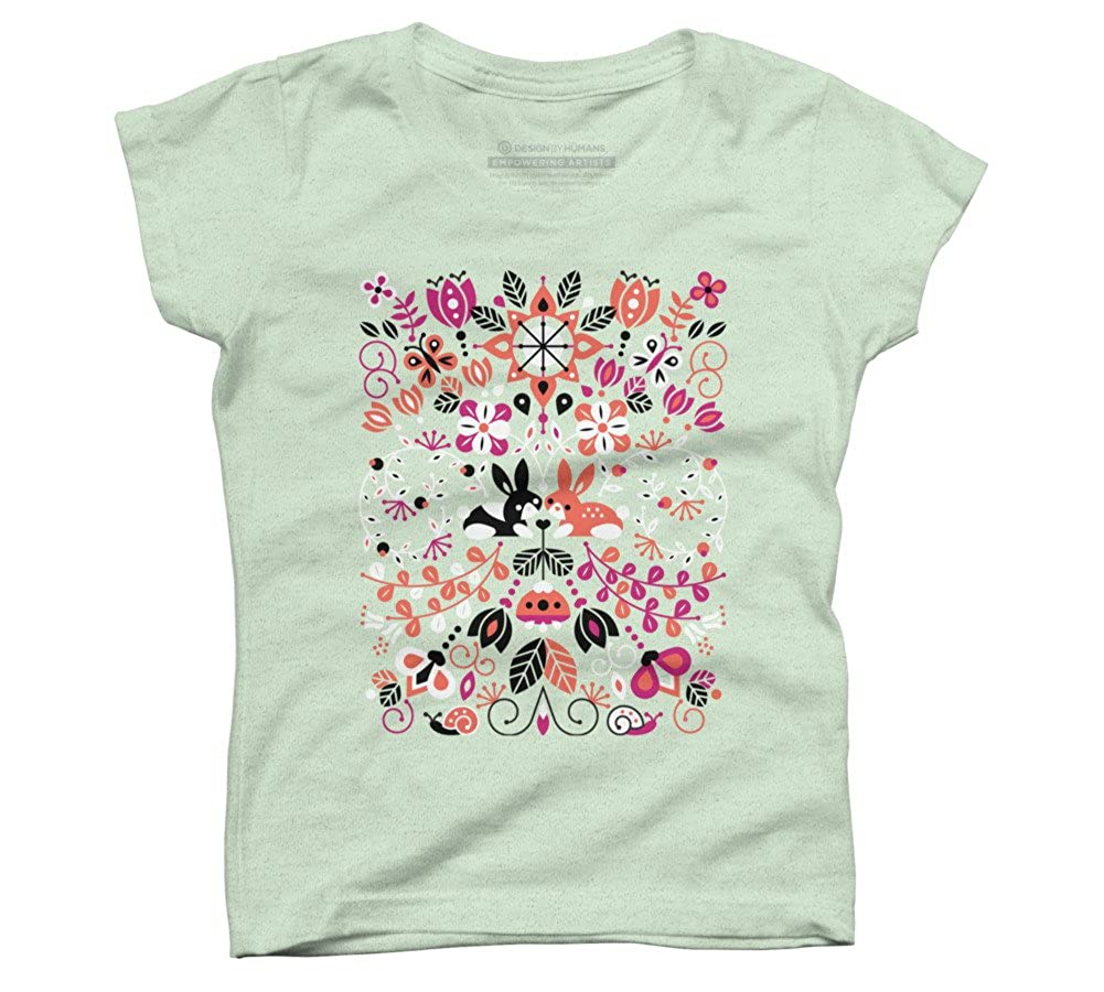 Design By Humans Bunny Lovers Girls Youth Graphic T Shirt