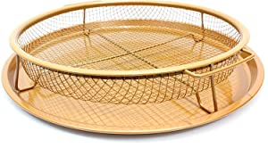 Copper Ceramic Crisping Tray, Choose Size, Great Air Fryer to Make Crisper Fries, Wings & More, Non-Stick, Dishwasher Safe. (Circle)