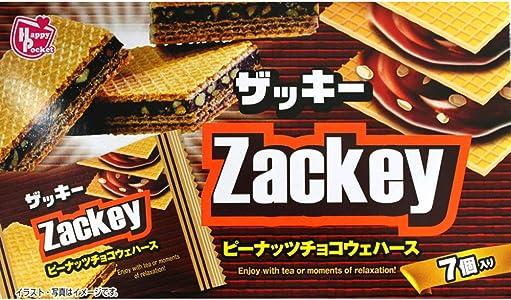 ハッピーポケット ザッキー ピーナッツチョコウェハース 7個×12袋