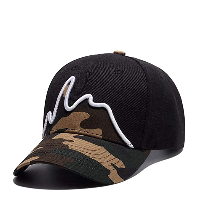 Trucker Hats Men Embroidery Camouflage Baseball Cap Curve Brim Full Cap Couple Wholesale Hip Hop Gorras Mujer at Amazon Mens Clothing store: