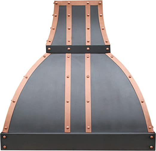 Amazon Com Copper Kitchen Oven Hood Comes With Professional Stainless Steel Range Hood Vent Oil Rubbed Bronze Patina Sinda H1stro W42 Xh36 Island Appliances